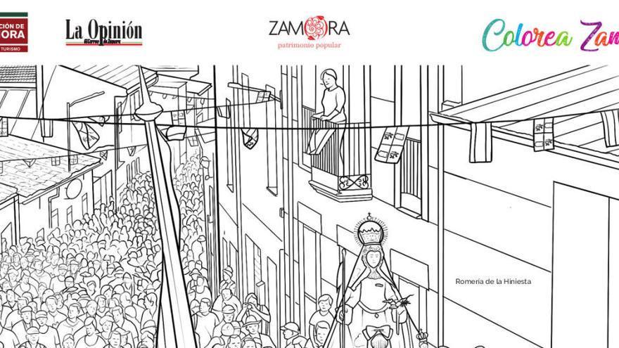 Colorea Zamora: la Romería de la Hiniesta