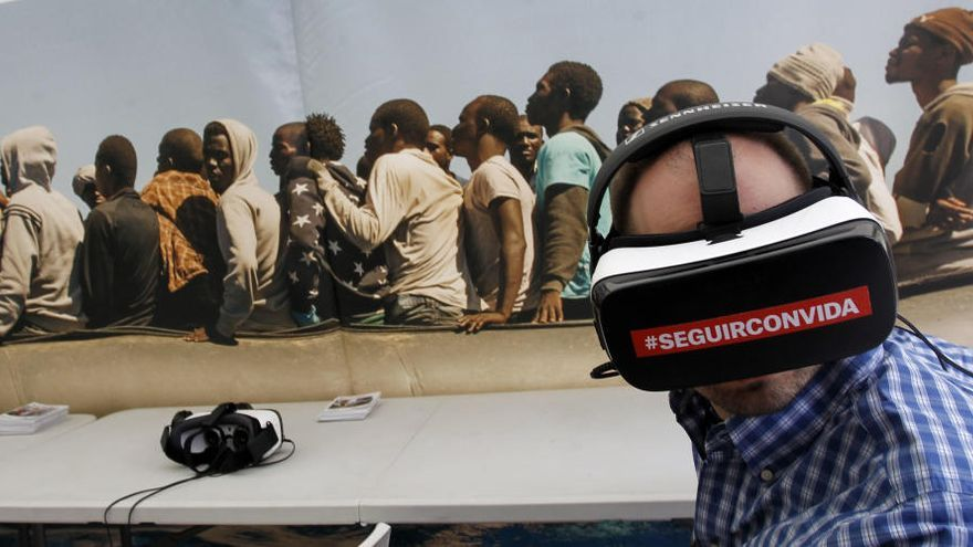 Realidad virtual para mostrar los efectos de la guerra