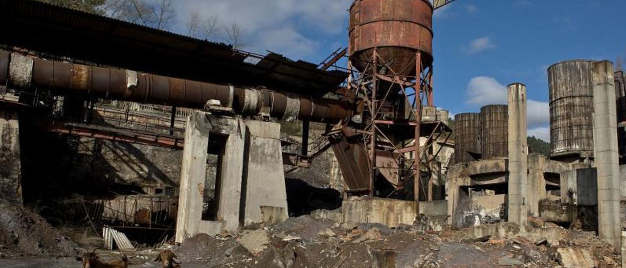 La mina de El Terronal, en el concejo de Mieres, donde se ha probado el método del Indurot. | Irma Collín