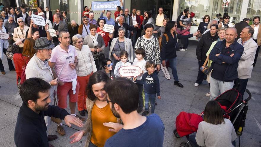 Acto simbólico contra el párkinson en A Coruña