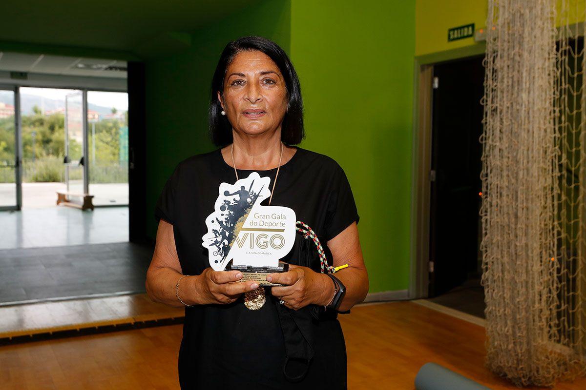 Pilar, madre de la jugadora de pádel Carla Barciela