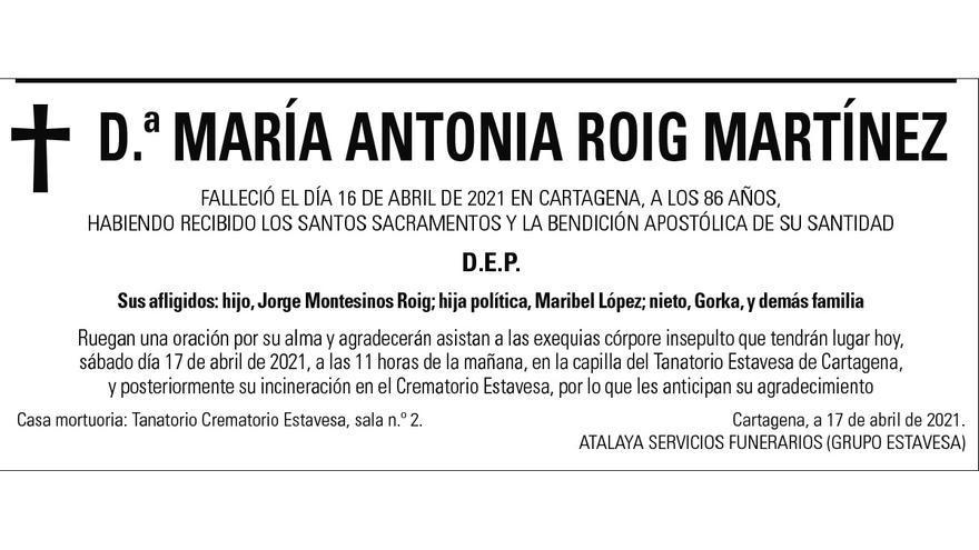 Dª María Antonia Roig Martínez