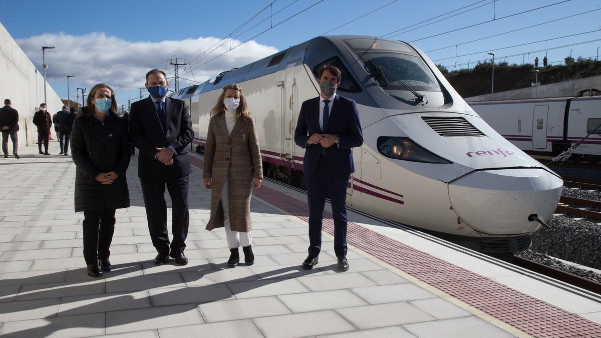 El ministro Ábalos, durante la inauguración del AVE entre Zamora y Sanabria
