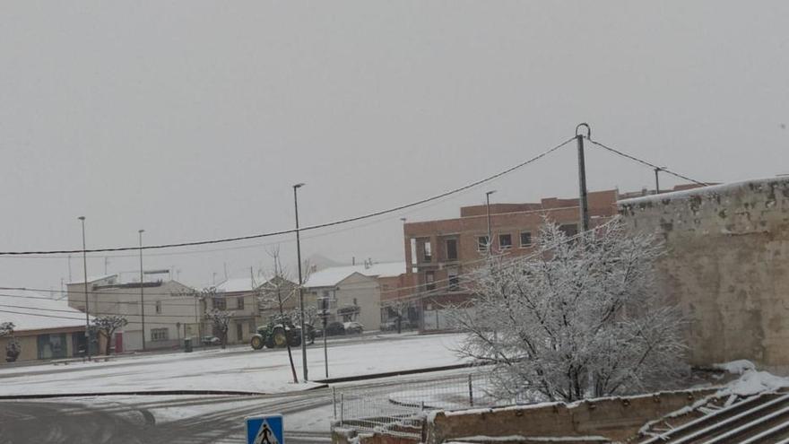 Imágenes del temporal de nieve en la Región de Murcia