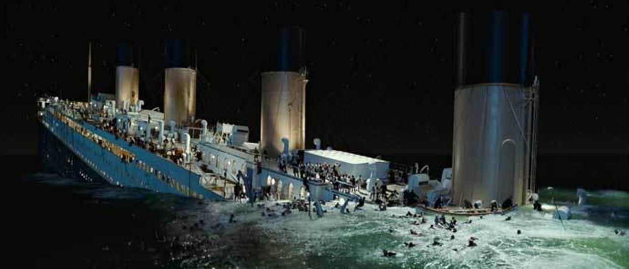 "Una imagen de la película ""Titanic"""