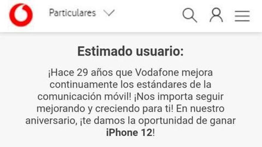 No, Vodafone no sortea ningún iPhone 12