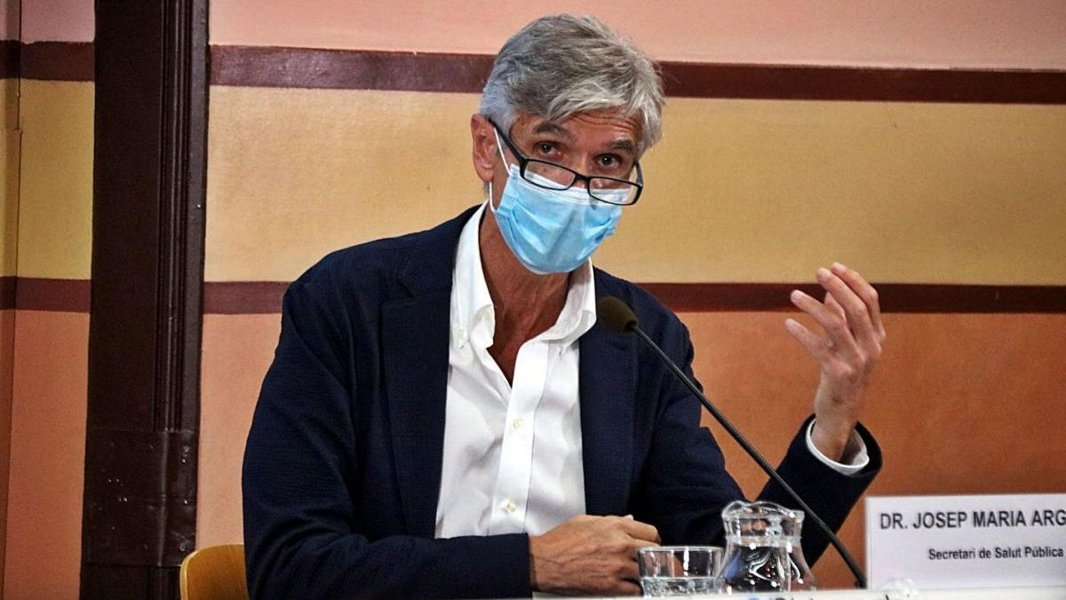 El secretari de Salut Pública de la Generalitat, Josep Maria Argimon
