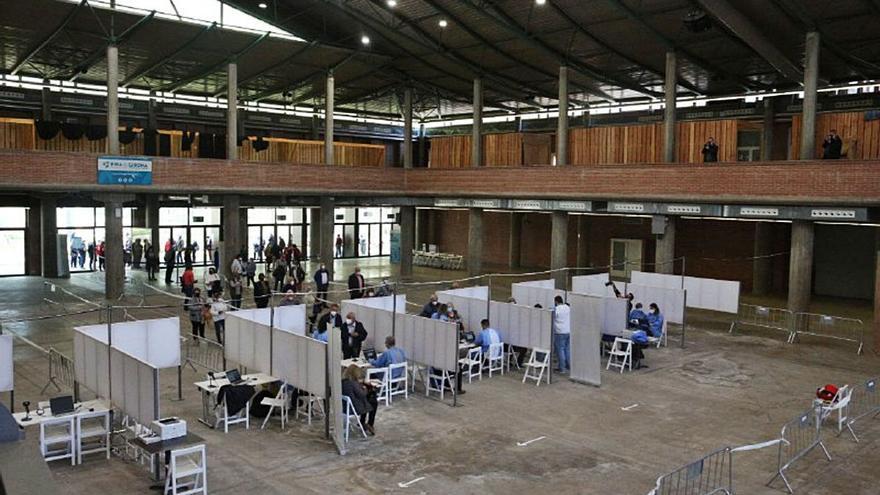 El Palau de Fires de Girona posa una quarta part de totes les dosis