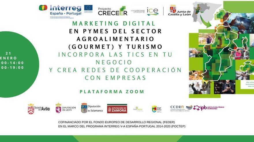 La Diputación de Zamora organiza un taller online y gratuito de marketing para el turismo y la agroalimentación gourmet