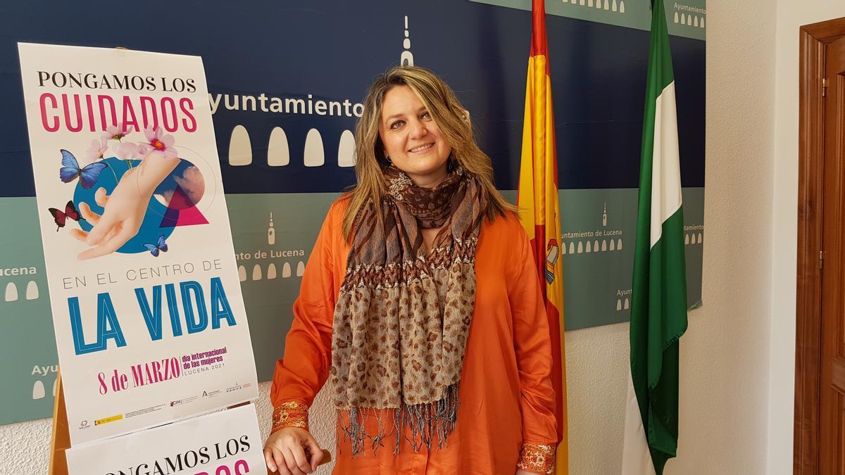 La concejala de Cooperación al Desarrollo del Ayuntamiento de Lucena, Carmen Gallardo.