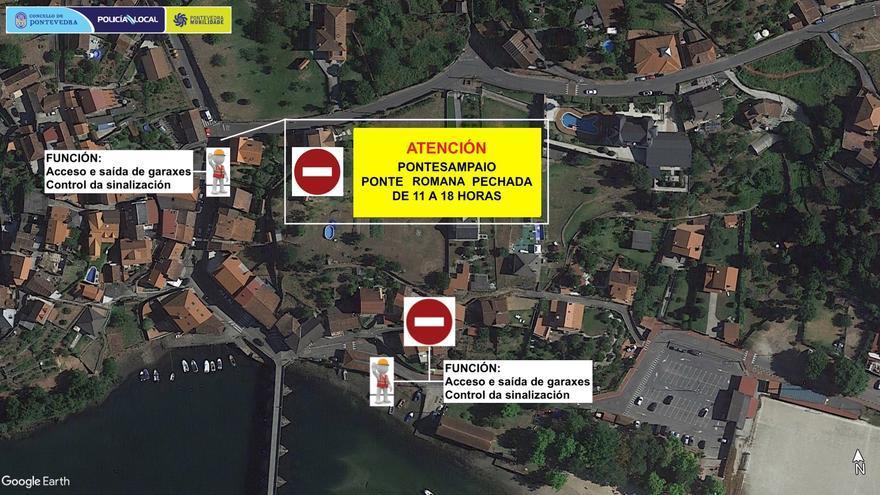 Un rodaje para Amazon Prime provoca cortes de tráfico en Ponte Sampaio