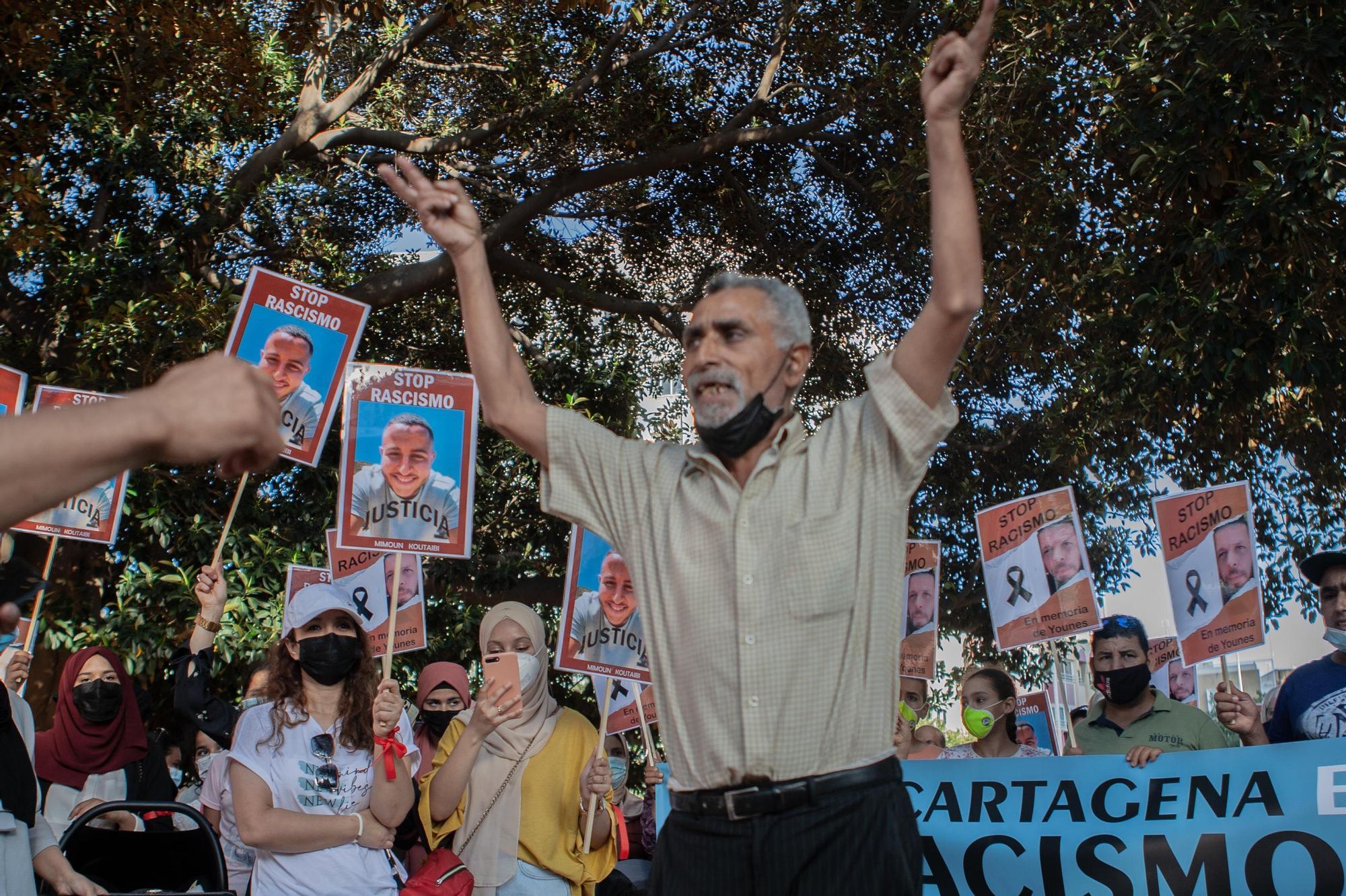 Manifestación contra el racismo en Cartagena