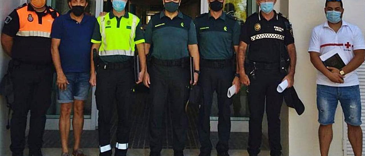 Participantes en la reunión de seguridad del pasado viernes.