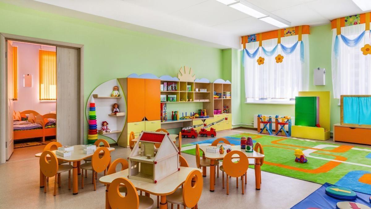 Interior de una escuela infantil.