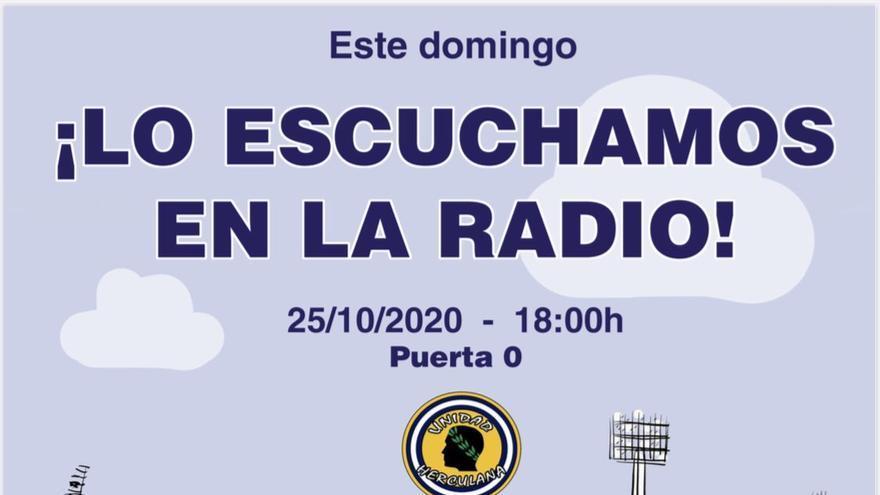 Unidad Herculana escuchará el partido por la radio en protesta por los precios de las entradas
