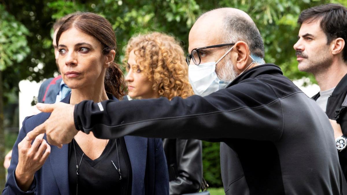 Maribel Verdú, durante el rodaje de 'Ana Tramel. El juego'.