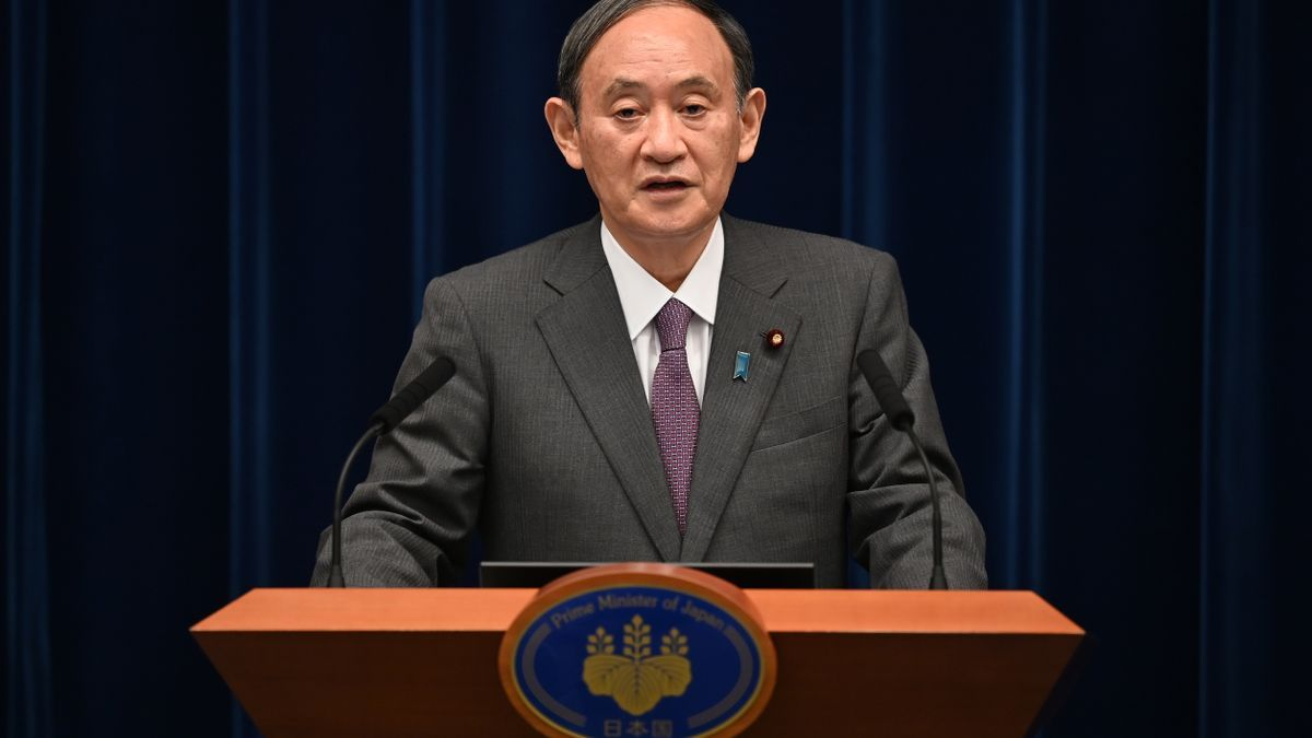 El primer ministro nipón Suga.