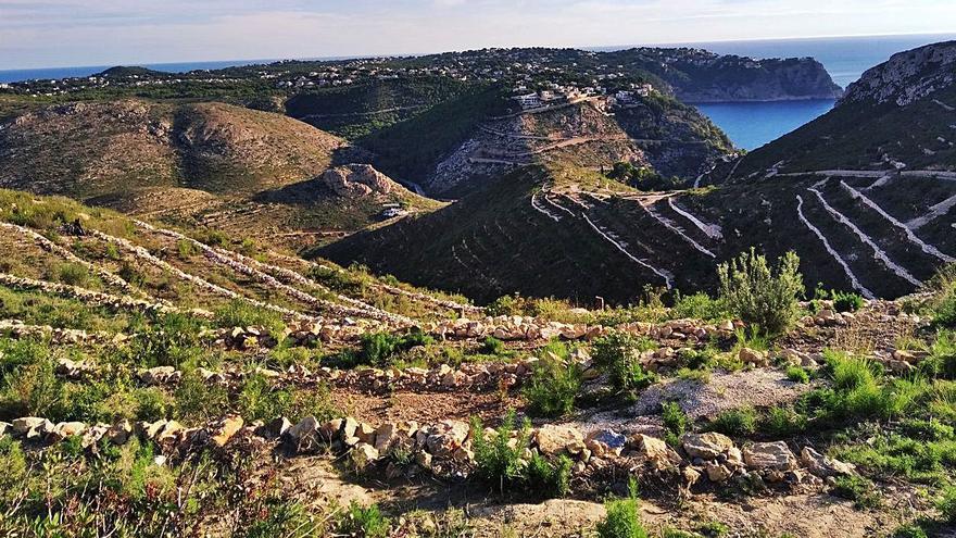 La piedra en seco resurge en la Granadella de Xàbia
