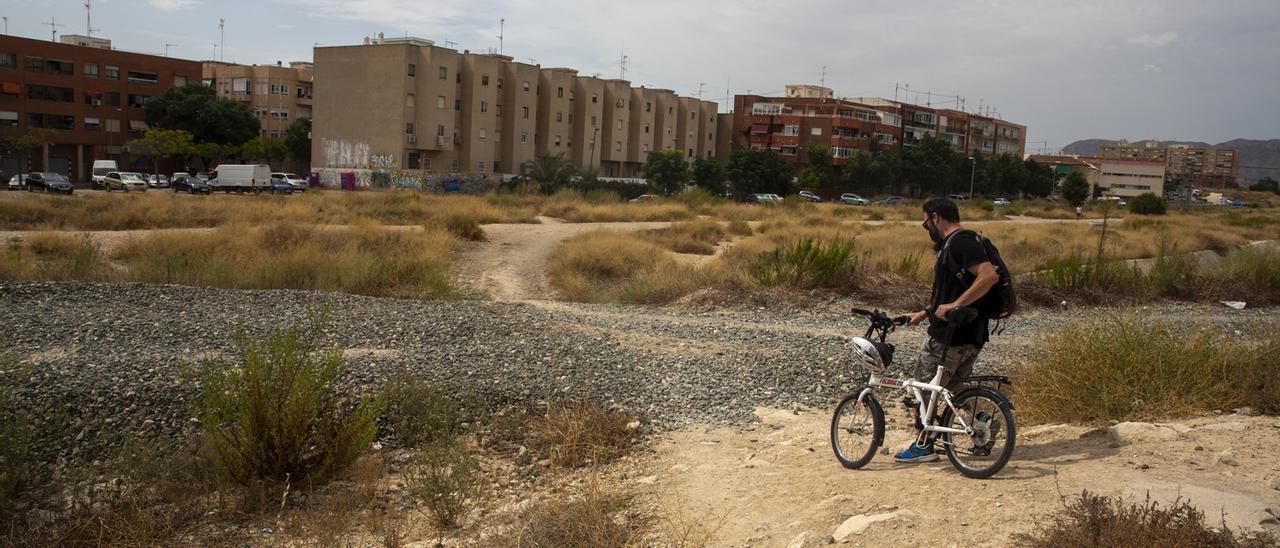 Terrenos del futuro Parque Central.