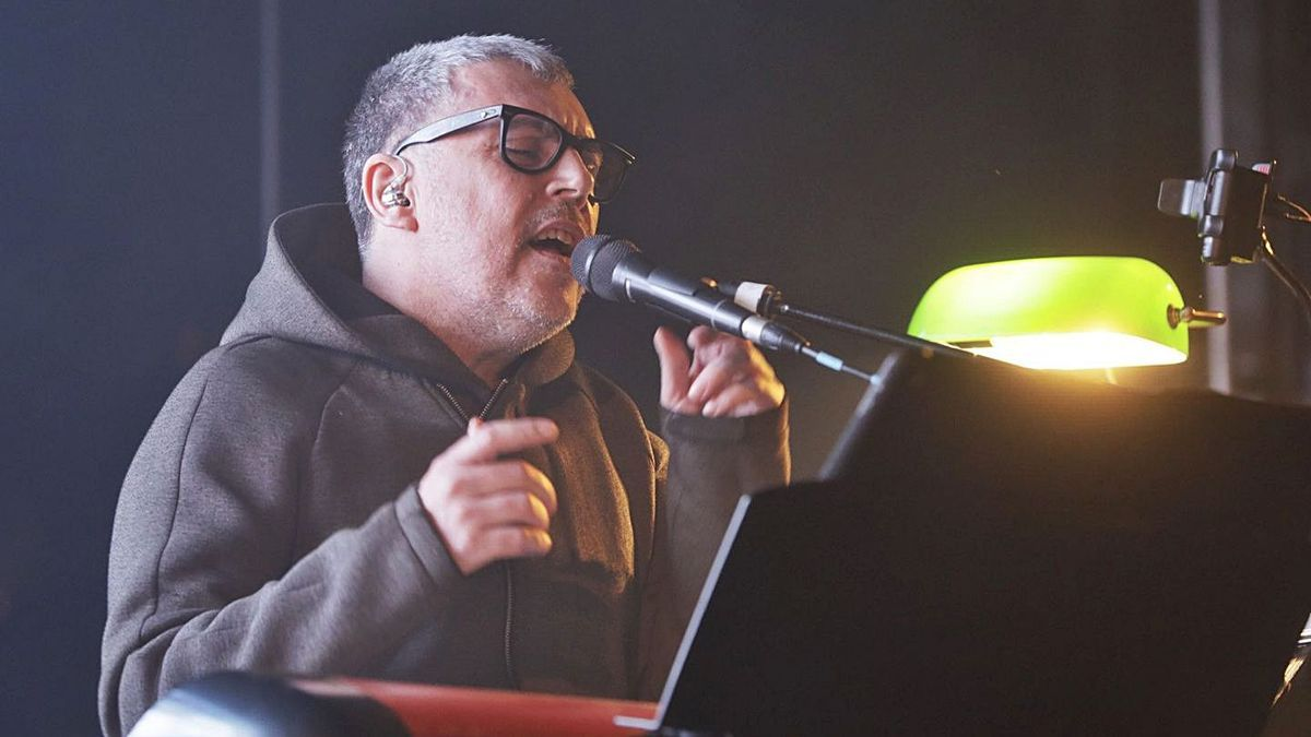 Iván Ferreiro, durante su actuación