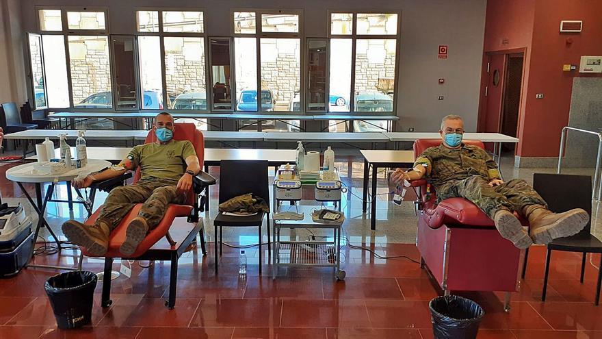 La Base General Alemán Ramírez colabora esta semana en la donación de sangre