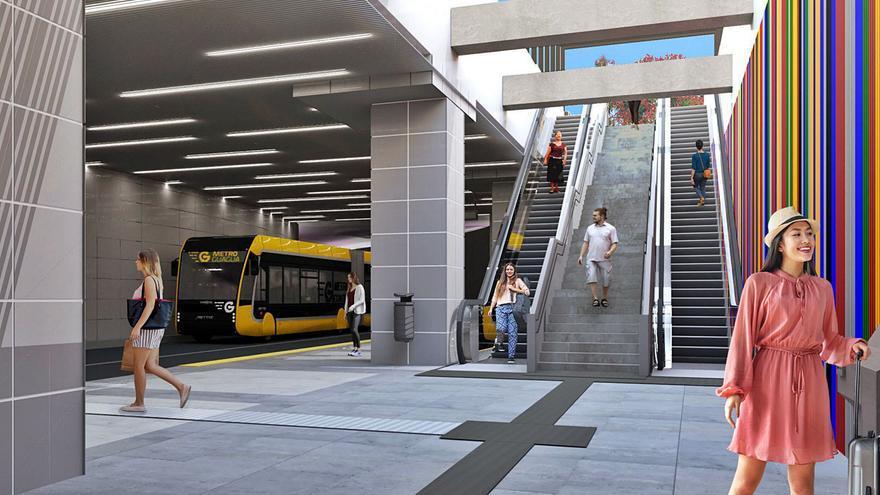 A concurso la parada subterránea de Santa Catalina para la MetroGuagua