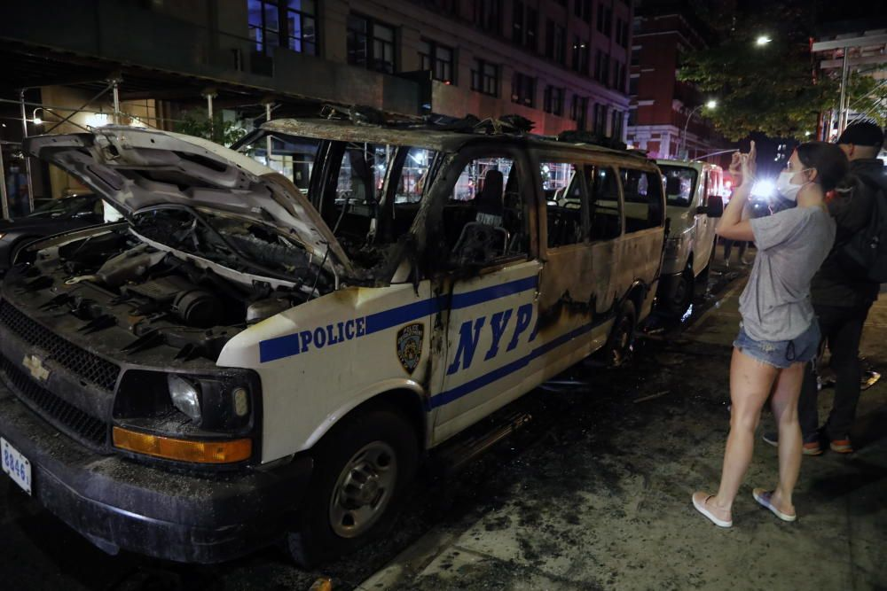 NYC Police abuse protest in wake of George Floyd ...