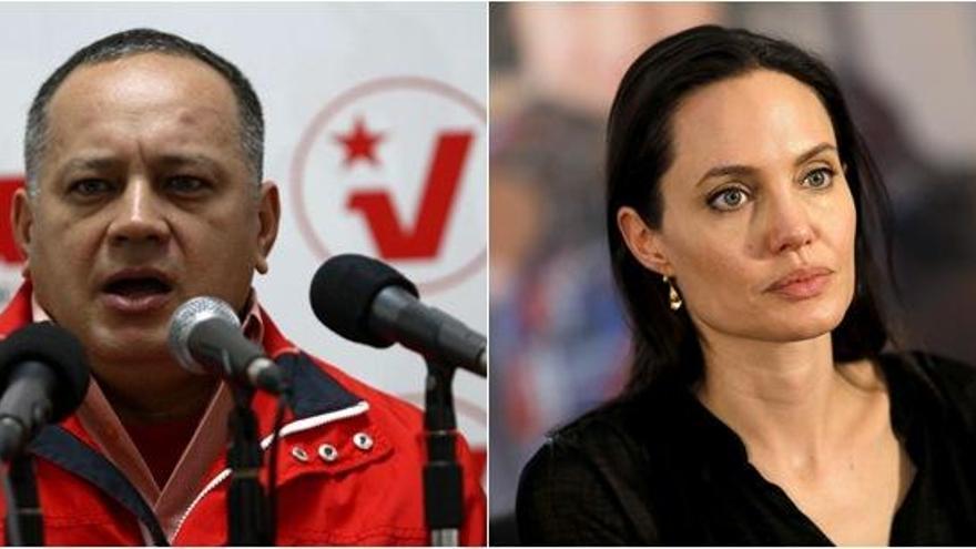 Cabello acusa a Angelina Jolie de trabajar para la CIA