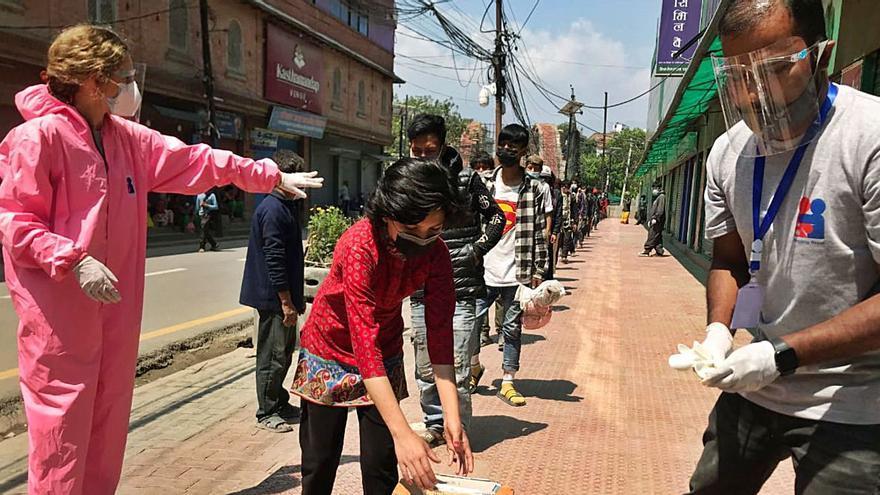Solidaridad mallorquina  contra el hambre  en Katmandú