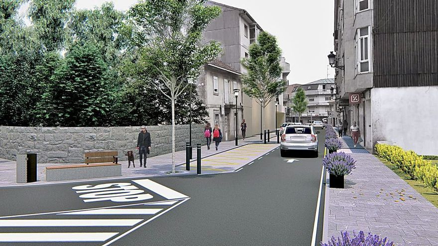 Salceda mejora la entrada a la villa con una nueva humanización