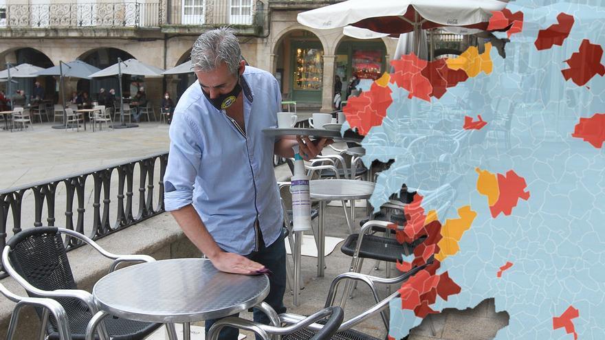 Así queda nuevo mapa de las restricciones en Galicia