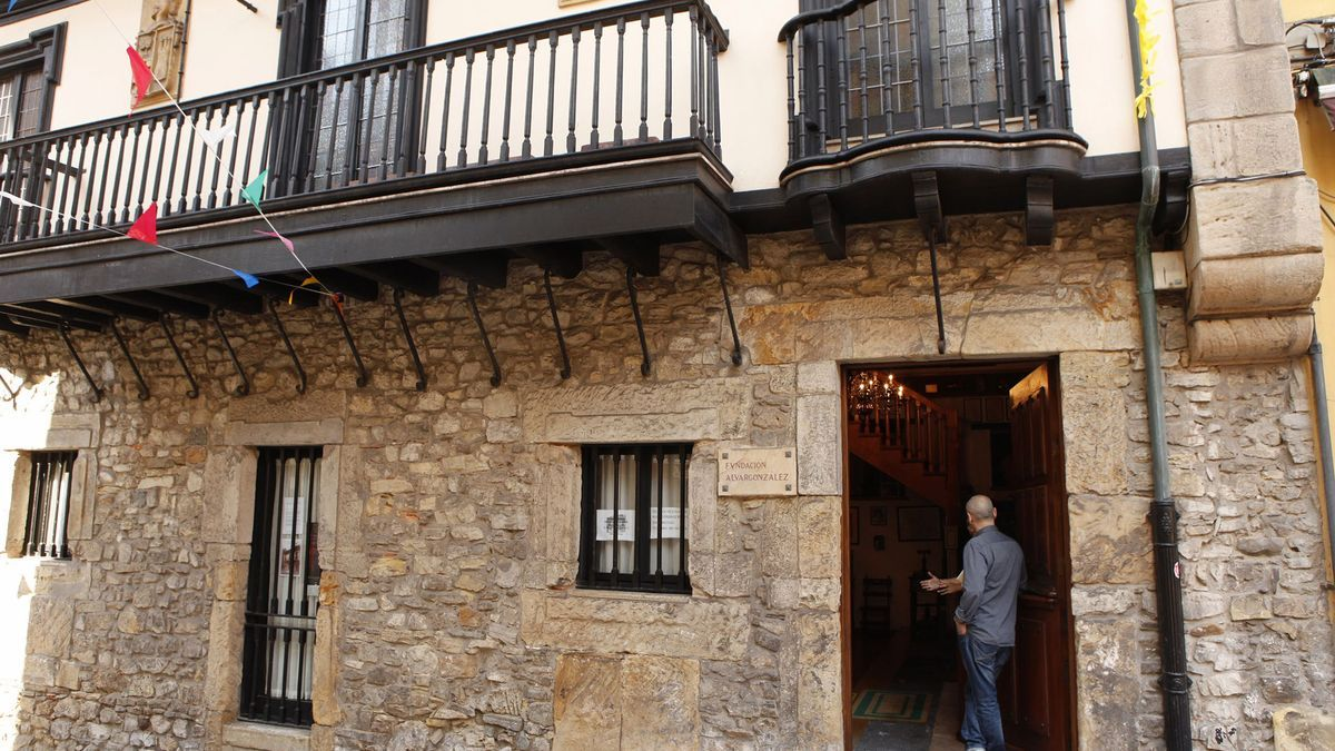 Entrada a la sede de la Fundación Alvargonzález.
