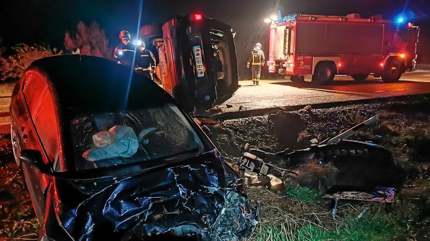 Dos heridos tras la colisión de dos vehículos en Calzada del Coto (León)