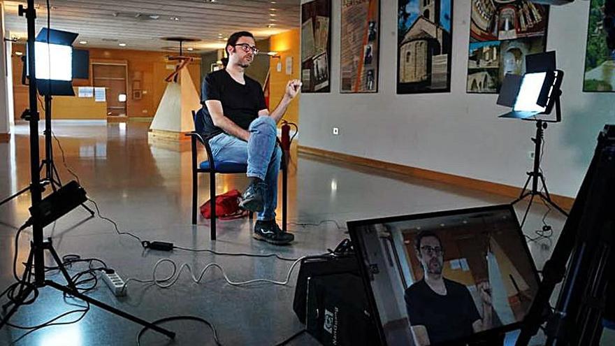 Berga acull la gravació d'un fragment de «L'Hora dels infants» sobre les Colònies Escolars Permanents