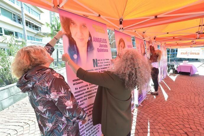 08-03-2019 LAS PALMAS DE GRAN CANARIA. Inauguración de la exposición Mujeres Visibles y sesión de yoga feminista, en la plaza Saulo Torón. Fotógrafo: ANDRES CRUZ