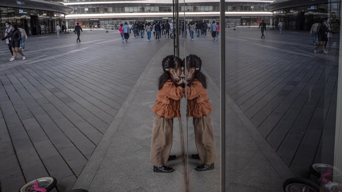 Ciudadanos en Pekín.