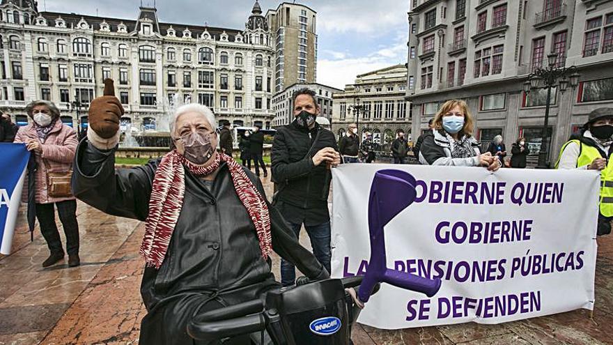 Los pensionistas asturianos retoman las protestas en las calles