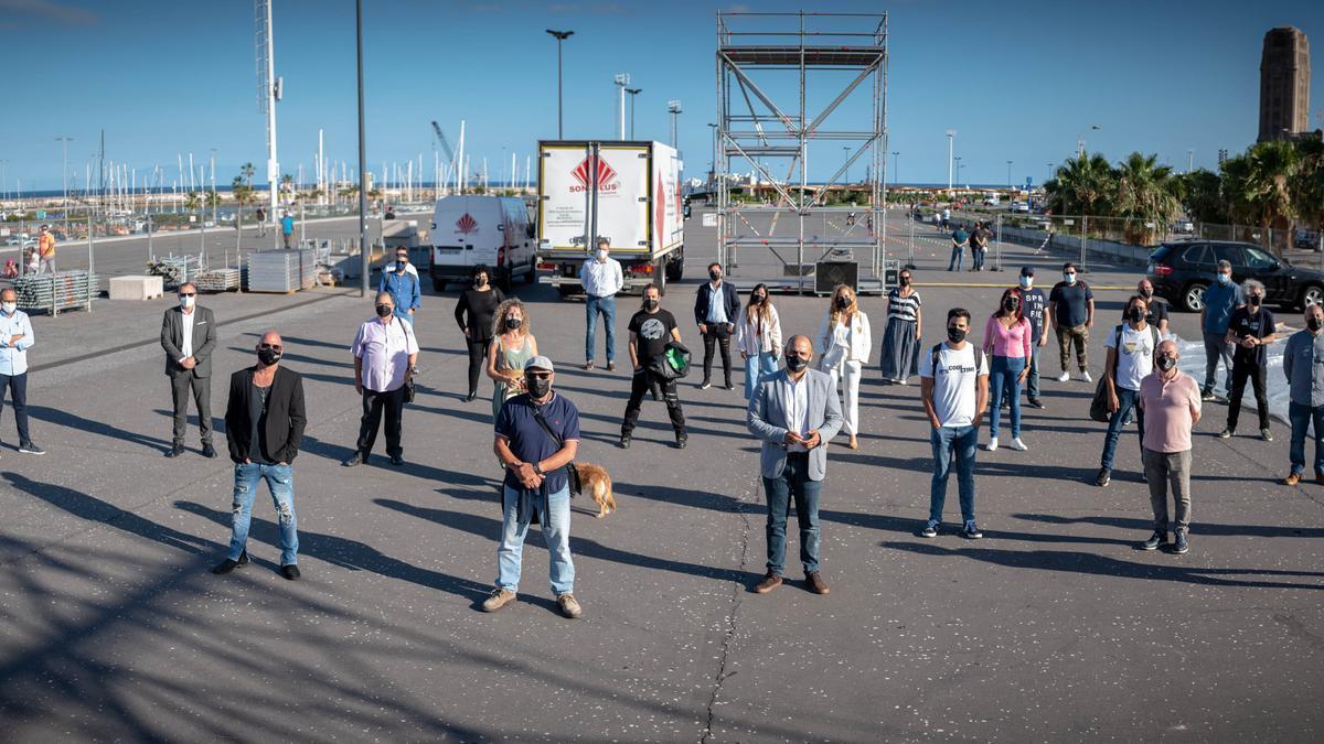 Representantes de las productoras que estarán en mayo, en el recinto cultural de la avenida de Anaga.