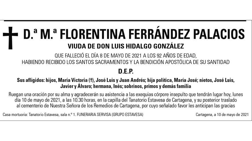Dª María Florentina Ferrández Palacios