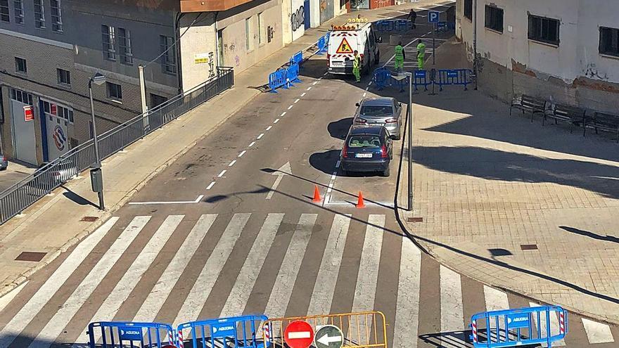 La calle Campo de Marte, en Zamora capital, se reabre al tráfico
