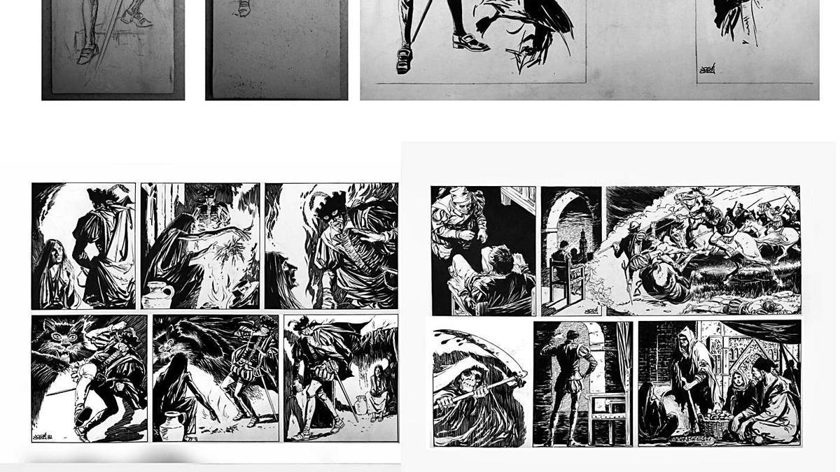 Una de les peces de José Grau sobre 'L'Encobert'. | A.V.