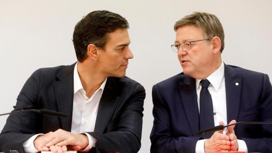 Ximo Puig y Pedro Sánchez se volverán a evitar en el comité federal del PSOE