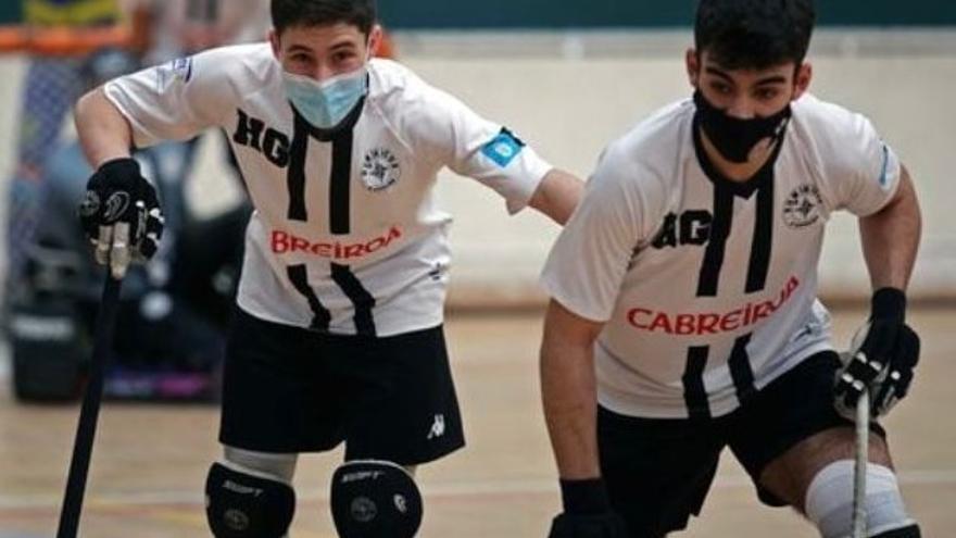 Jacobo Copa y Bruno Saavedra, con la selección española sub 17