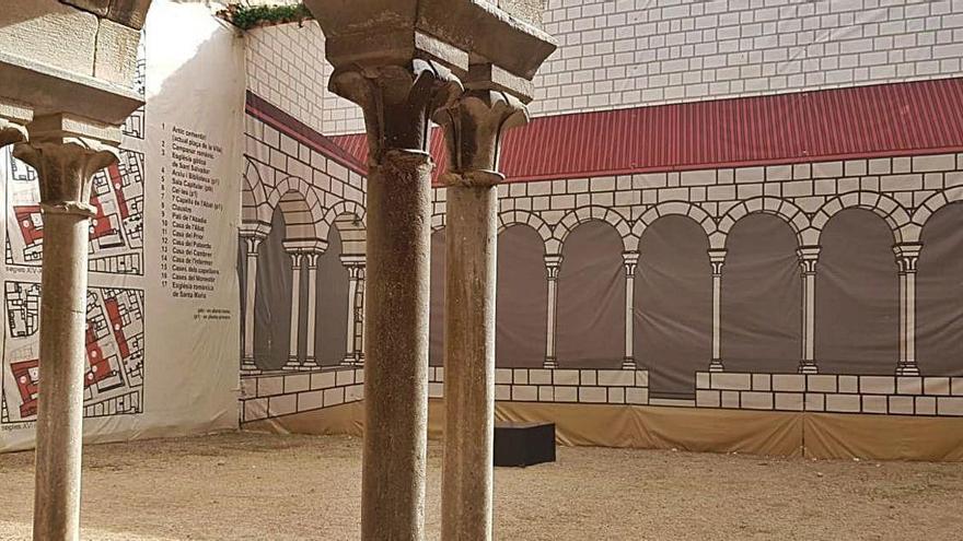 Breda refarà  les ales sud i est  del claustre  del monestir  de Sant Salvador