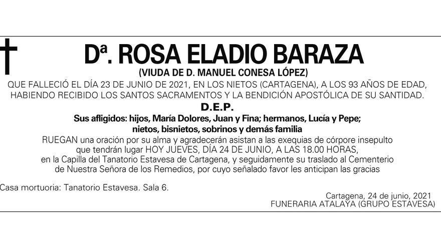 Dª Rosa Eladio Baraza