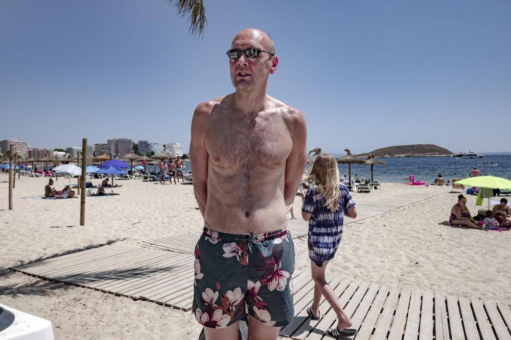 Incertidumbre entre los turistas británicos en Mallorca  tras la cuarentena en su país