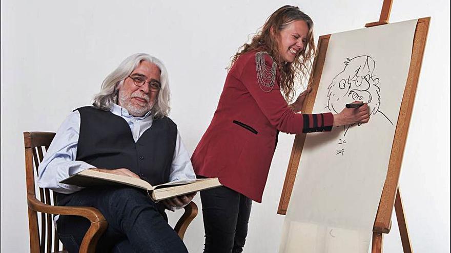 Jaume Copons & Liliana Fortuny y Aina Bestard, en el Tinta Il·lustre