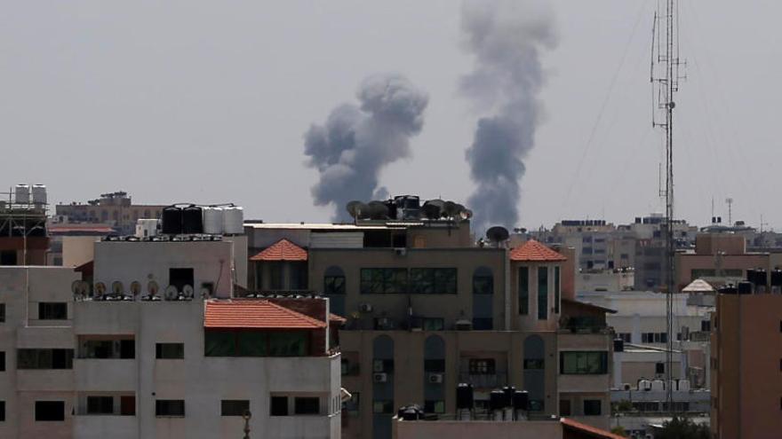 Un palestino muerto por bombardeos israelíes en Gaza