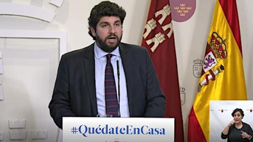 López Miras pide un fondo extraordinario para sufragar la lucha sanitaria contra el coronavirus