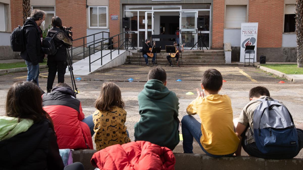 Actividad del Conservatorio de Música de Zamora al aire libre